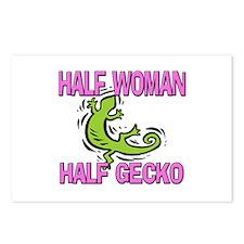 Half Woman Half Gecko Postcards (Package of 8)