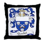 Bouchet Family Crest Throw Pillow