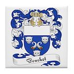 Bouchet Family Crest Tile Coaster