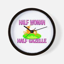 Half Woman Half Gazelle Wall Clock