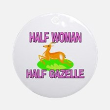 Half Woman Half Gazelle Ornament (Round)