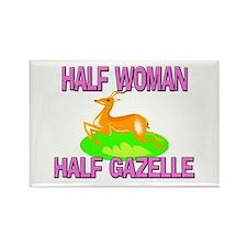 Half Woman Half Gazelle Rectangle Magnet