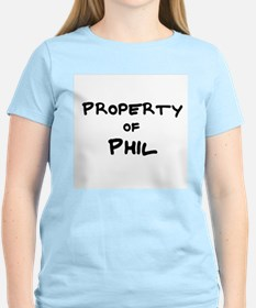 Property of Phil Women's Pink T-Shirt