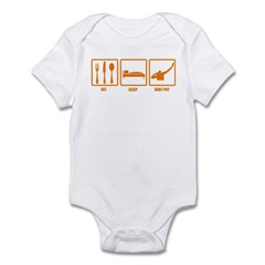 Eat Sleep Shot Put Infant Bodysuit