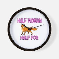 Half Woman Half Fox Wall Clock