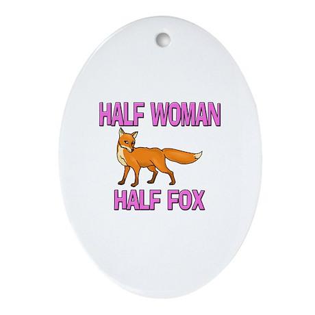 Half Woman Half Fox Oval Ornament