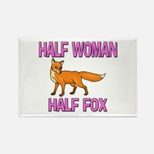 Half Woman Half Fox Rectangle Magnet