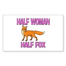 Half Woman Half Fox Rectangle Decal