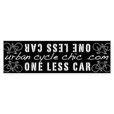 One Less Car Bike Frame Bumper Sticker By 1lesscar