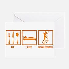 Eat Sleep Rhythmic Gymnastics Greeting Card