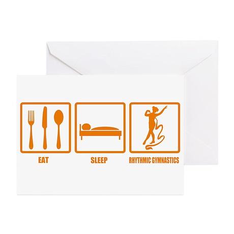 Eat Sleep Rhythmic Gymnastics Greeting Cards (Pk o