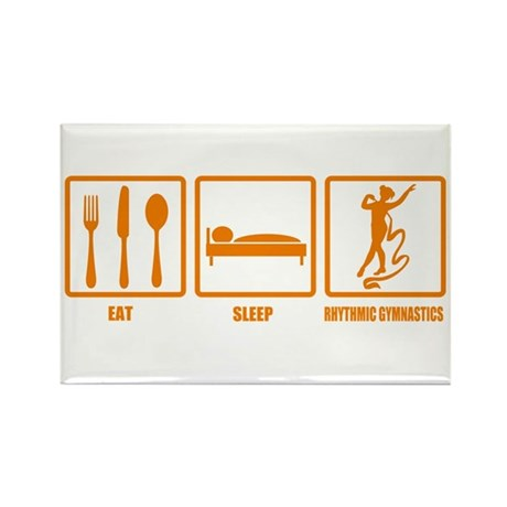 Eat Sleep Rhythmic Gymnastics Rectangle Magnet (10