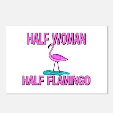 Half Woman Half Flamingo Postcards (Package of 8)