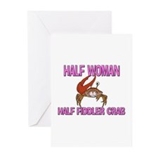 Half Woman Half Fiddler Crab Greeting Cards (Pk of