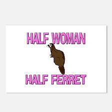 Half Woman Half Ferret Postcards (Package of 8)