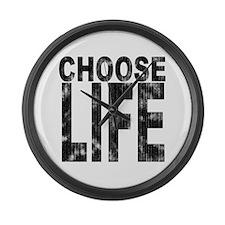 Choose Life Distressed Giant Clock