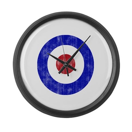 Sixties Mod Emblem Large Wall Clock