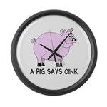 A Pig Says Oink Giant Clock
