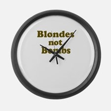 Blondes Not Bombs Giant Clock