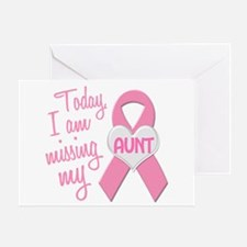Missing My Aunt 1 BC Greeting Card