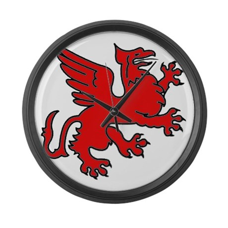 Red Griffin Giant Clock