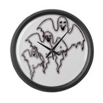 Spooky Ghosts Giant Clock