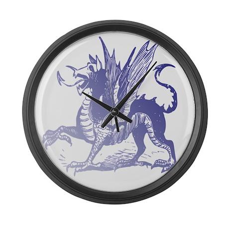 Fiery Purple Dragon Large Wall Clock