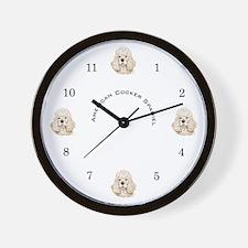 American Cocker Spaniel, Name Wall Clock