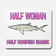Half Woman Half Dogfish Shark Mousepad