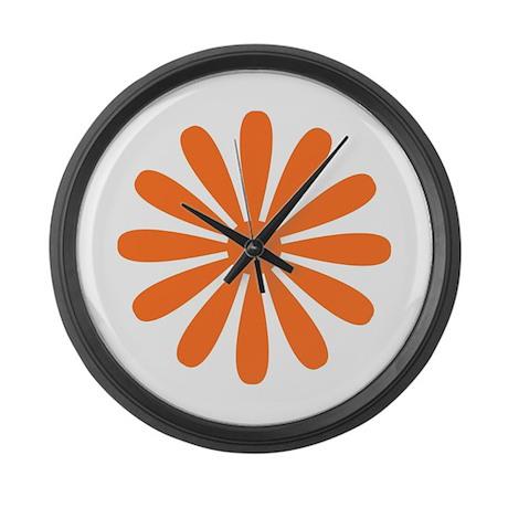 Orange Daisy Giant Clock