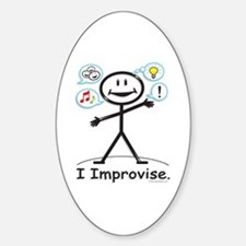 BusyBodies Improv/Comedy Oval Decal