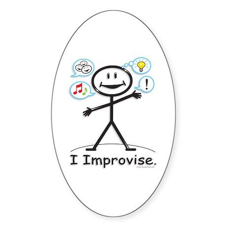 BusyBodies Improv/Comedy Oval Sticker