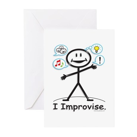 BusyBodies Improv/Comedy Greeting Cards (Package o