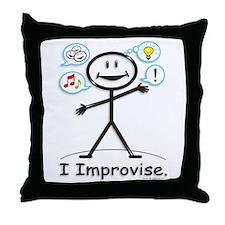 BusyBodies Improv/Comedy Throw Pillow