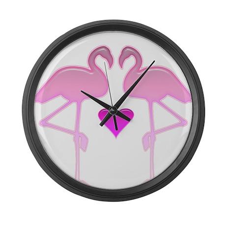 Flamingo Love Giant Clock