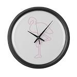 Neon Flamingo Giant Clock