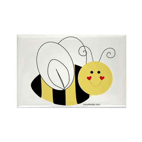 Cute Bee Rectangle Magnet (10 pack)