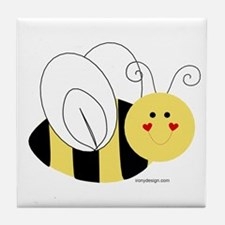 Cute Bee Tile Coaster