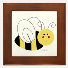 Cute Bee Framed Tile