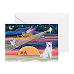 XmasAngel - Akita Greeting Cards (Pk of 10)