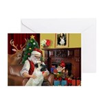 Santa & Anatolian Greeting Greeting Cards (Pk of 2