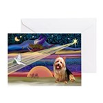 Xmas Star Aussie Terrier Greeting Card
