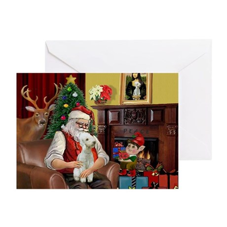 Santa's Bedlington Greeting Cards (Pk of 20)