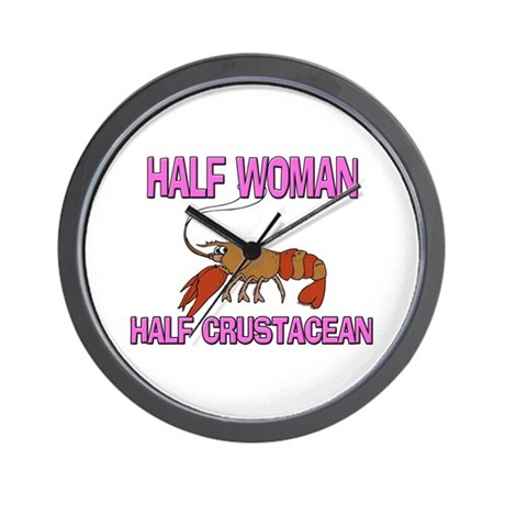 Half Woman Half Crustacean Wall Clock