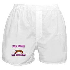 Half Woman Half Crustacean Boxer Shorts