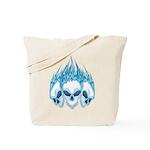 Blazing Blue Skulls Tote Bag