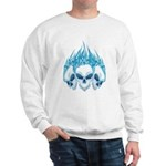 Blazing Blue Skulls Sweatshirt