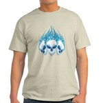 Blazing Blue Skulls Light T-Shirt