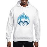 Blazing Blue Skulls Hooded Sweatshirt