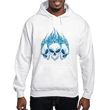 Blazing Blue Skulls Hoodie